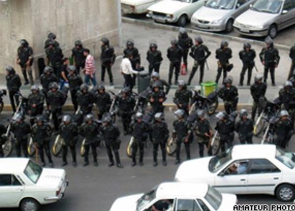 ... police kept demonstrators from entering protest sites. CNN amateur photo