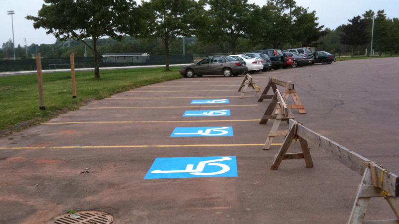 Canada Games 4 spots2 PEI Council Disabled deceived   8 new disabled parking spaces missing at Canada Games photo