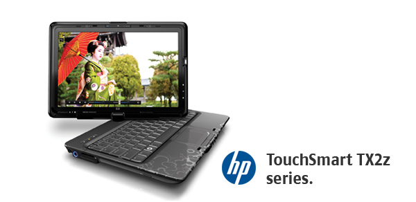 HP TouchSmart tx2z Touch screen notebooks are here photo