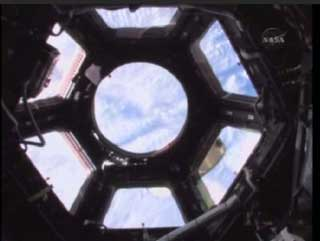 Tranquility cupola opened to the universe for the first time
