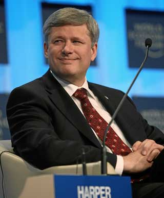Stephen Harper Davos web RDSP fails to help Canadians with disabilities photo