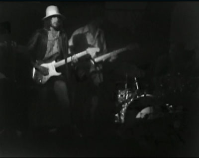 Bob Dylan singing Hazel with The Band at Winterland 1976 (image Wolfgang's Vault)