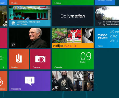 Windows 8 - the 2012 and future threat to Apple's market hegemony in touch (photo NJN Network)
