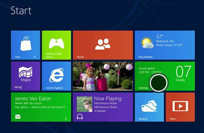Windows 8 touch point is the circle (illustration NJN Network)