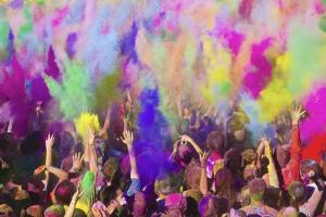 Hindi Holi, the throwing of colors (Proto: UtahValley.com)