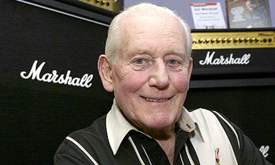 Jim Marshall of Marshall amps - the sound of rock and roll (photo credit Damien Maguire)