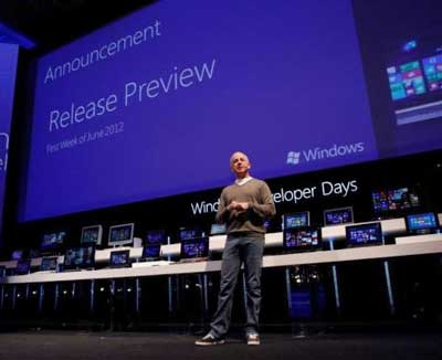 Microsoft President Steven Sinofsky announces June Windows 8 Preview