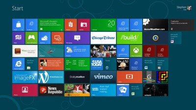 Windows 8 Metro home (picture NJN Network)
