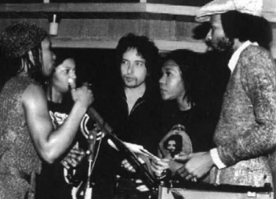 Bob Dylan and his session musicians recording at Muscle Shoals AL (Recording Saved the LP)