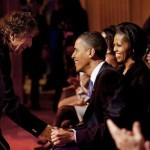 Bob Dylan Obama and Michelle 150x150 Bob Dylan 30th Anniversary Concert DVD photo