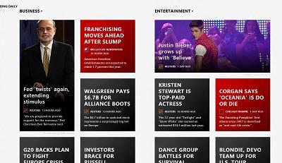 Bing Daily News Metro App