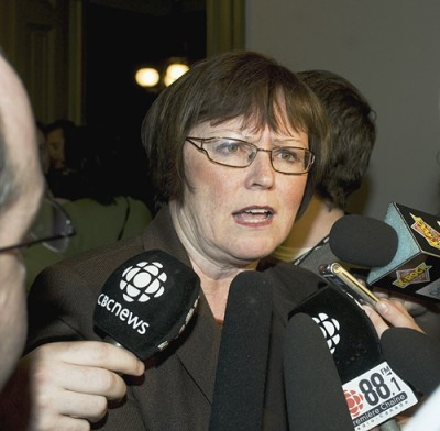 Opposition Leader Olive Crane (photo Guardian)