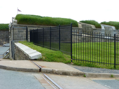 Back entrance to the Halifax Citadel