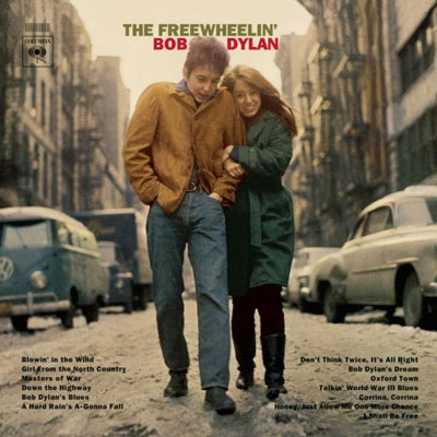 """Bob Dylan and Suze Rotolo captured forever on the cover of """"Freewheelin Bob Dylan'"""