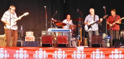 Joe Murphy Blues Revue, CBC at Halifax Tall Ships Festival with The Water Street Blues Band – Gary Potts, Gregg Fancy and John Eyman, missing from the photo Barry Cooke (Photo Stephen Pate)