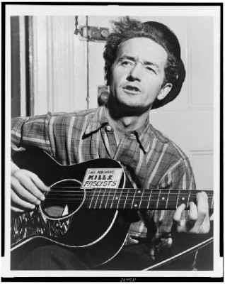 Woody Guthrie with Gibson L-00