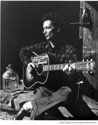 Woody Guthrie with a Gibson Southern Jumbo