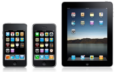 Apple iPod, iPhone and iPad – revolutionized consumer electronics (illustration Angadgets.com