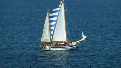 Sailing during the hot summer of 2012 (photo Stephen Pate/NJN)