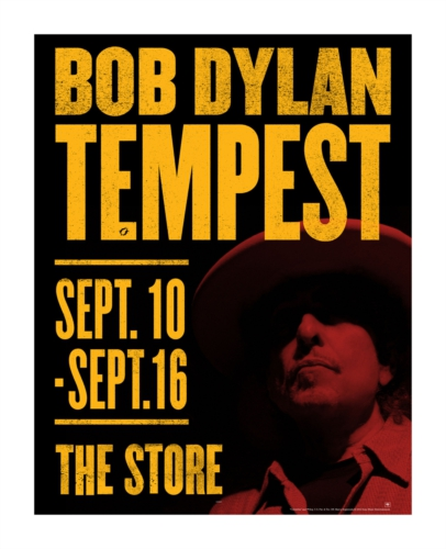 New Bob Dylan Album, Tempest, Coming September 11.