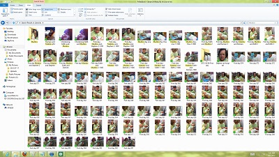 "Windows 8 Explorer Search for ""Maddox"" found more than 100 photographs -  screenshots by Stephen Pate/NJN"