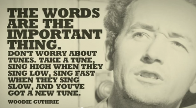 Woody Guthrie on stealing songs