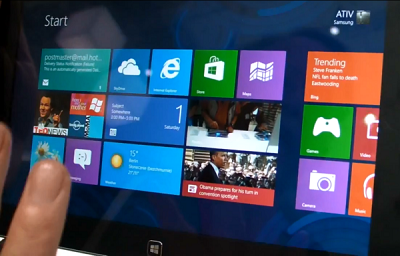 Samsung ATIV Windows 8 tablet (photo credit ZDNET)