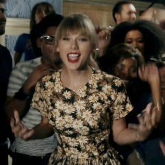 """All modesty had to go out the window"" for her five outfit changes. Taylor Swift,  in ""We Are Never Ever Getting Back Together"""