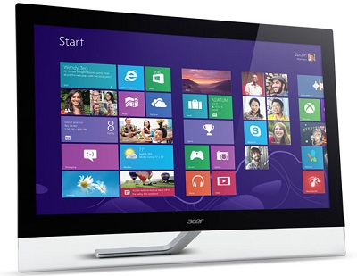 Acer T232HL Win 8 front First Look   Acer T232HL multi touch display for Windows 8 photo