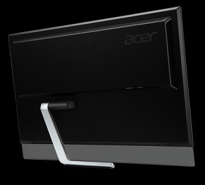 Acer T232HL, view of the display back and support leg