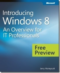 Free eBook – Introducing Windows 8 for IT professionals