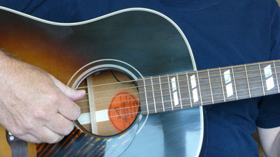 guitar Gibson Woody Guthrie SJ is an authentic replica photo