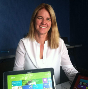 Tami Reller, Microsoft's chief marketing officer and chief financial officer, pleased with Windows 8 sales