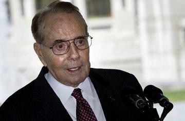 Bob Dole at Disability vote US Senate Blocks Disability Treaty photo