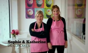 Sophie and Katherine, the Cupcake Girls using Windows Phone
