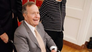 George H.W. Bush using wheelchair in Intensive care (ABC News)