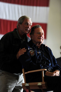 Former US Presidents George W. and George H Bush, champions of human rights for Americans with disabilities
