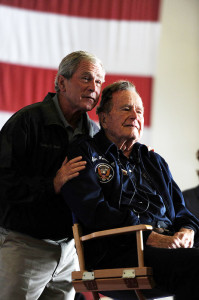 George W and George H Bush1 199x300 President Bush in intensive care photo