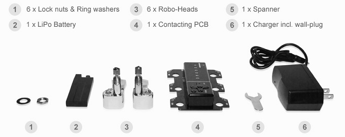 Components in a Tronical upgrade kit