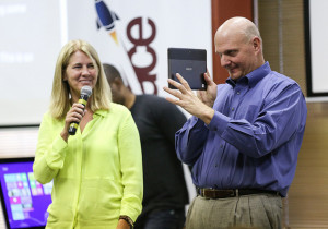 Tami Reller (CFO) and Steve Ballmer (CEO) Microsoft (photo @Photo Creative Commons License)