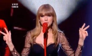 Taylor Swift sings We Are Never Ever Getting Back Together at NRJ Awards