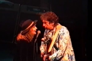 Dylan and Swiss Liz 300x199 Bob Dylan sings along with Swiss Liz photo