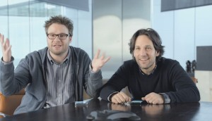 Seth Rogen and Paul Rudd make their pitch to represent The Next Big Thing