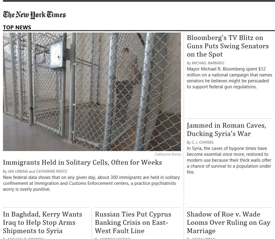 NY Times app NY Times Windows 8 app the pleasure of great journalism photo