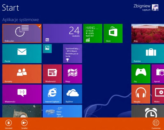 Windows 8 Blue Build 9364 Start screen – can you see the difference?