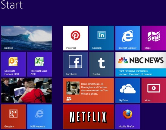 Windows 8 Start screen – the future is now