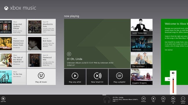 Xbox music 650x366 Windows 8 Music App updated and inches towards usability photo