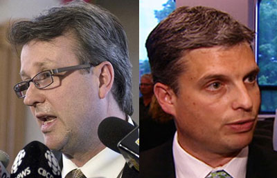 """Health Minister Doug Currie and Deputy Dr. Michael Mayne – two versions of """"War on Pain Killers"""" – a smokescreen?"""