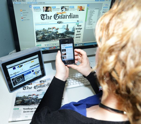 Guardian digital Will paywalls save the newspaper business photo