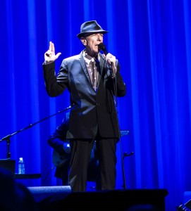 Leonard Cohen, 78, entertaining capacity audiences on Old Ideas World Tour 2013 (photo Brian Sørensen Creative Commons license some rights reserved)